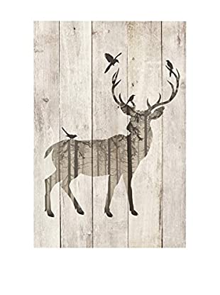 Surdic Panel de Madera Deer Multicolor