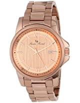 Lucien Piccard Men's 10048-RG-99 Breithorn Rose Gold Tone Textured Dial Rose Gold Ion-Plated Stainless Steel Watch
