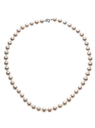 Le Perle di Emi Kaway Girocollo Perle Oro Bianco 18k 8-8,50 mm