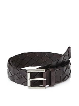 Michael Kors Men's Braided Leather Belt (Chocolate)