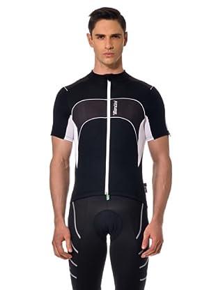 Santini T-Shirt Zip (Schwarz/Weiß)
