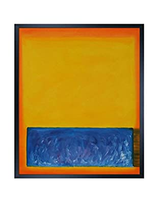 Mark Rothko Yellow, Blue, And Orange Framed Hand-Painted Reproduction