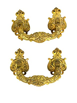 Set of 2 Decorative Handles, Gold