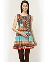Sleeve Less Printed Multi Kurti