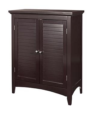 Elegant Home Fashions Slone Double Shutter Door Floor Cabinet, Dark Espresso