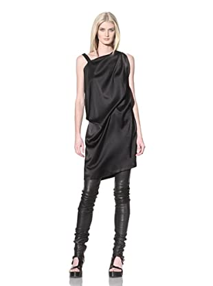 Ann Demeulemeester Women's Twisted Shoulder Dress (Black)