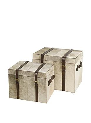 Braid Concept Truhe 2er Set elfenbein/braun