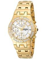 Pulsar Women's PF8264 Diamond Mother Of Pearl Gold-Tone Watch