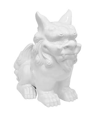 Three Hands Ceramic Foo Dog Statue