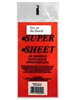 Super Sheet Under the Seat Super Strength Long Lasting Air Freshener, Half Sheet, Hand Made in the USA, Sex on the Beach Scent