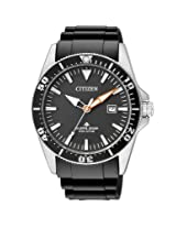 Citizen Eco-Drive Analog Black Dial Men's Watch BN0100-00E