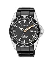 Citizen Eco-Drive Analog Black Dial Men's Watch BN0100-00E