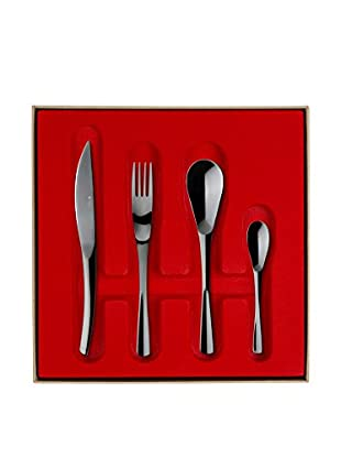 Guy DeGrenne 24-Piece XY Flatware Set Box, Black Mirror