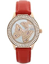 Gio Collection Analog White Dial Women's Watch - G0054-05