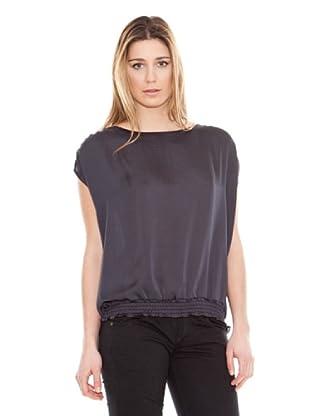 Calvin Klein Jeans Top Satén (Gris Oscuro)