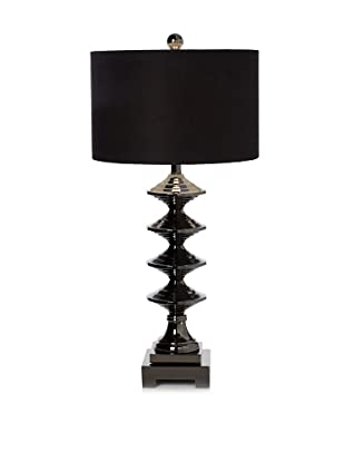 Greenwich Lighting Emory Table Lamp, Chrome/Black Nickel