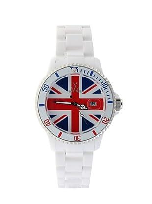 ToyWatch TUJ01WH - Reloj Unisex movimiento de Cuarzo con correa de plástico blanco