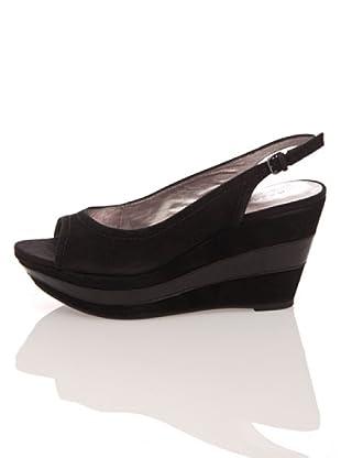Apepazza Keil-Sandalette (Schwarz)