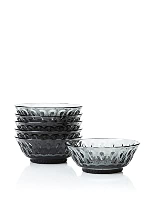 La Rochère Set of 6 Lyonnais Decor Charcoal Dessert Bowls, 12-oz.