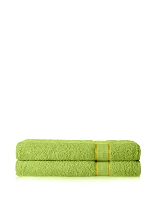 Espalma Set of 2 Ambassador Bath Sheets (Lime)