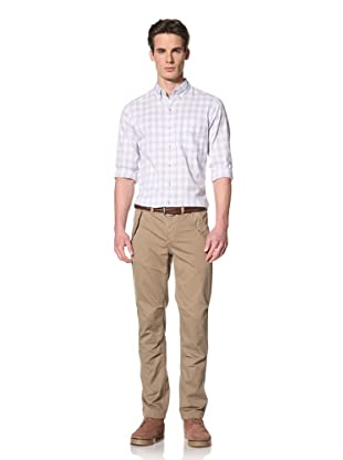Onassis Men's Stevens Twill Pants with Flap Pockets (Khaki)