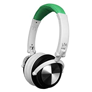 VM Audio SRHP3 Stereo MP3/iPhone iPod Over Head On Ear DJ Headphones Green/White AD
