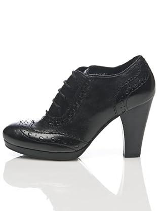 Apepazza Zapato Cordón Tacón (negro)