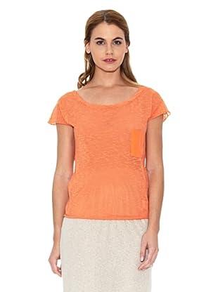 American Vintage Camiseta Bolsillo (Naranja)