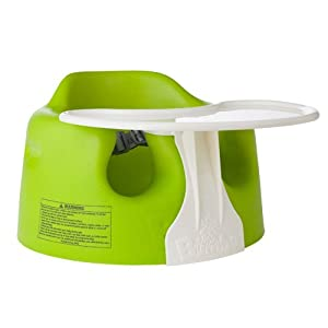 Bumbo Floor Seat and Play Tray Set, Lime