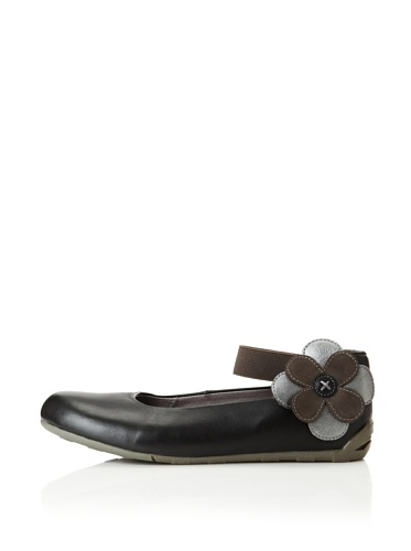 umi Kid's Panache Ballet Flat (Toddler/Little Kid) (Black)