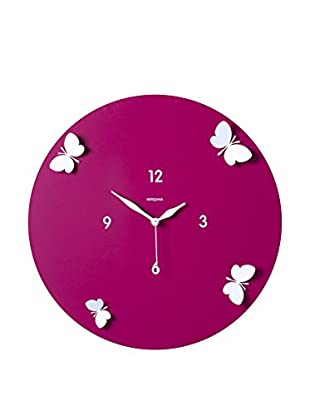 Diamantini & Domeniconi Reloj De Pared Farfalle Magenta