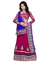 Surupta Pink Coloured Self Design Women's Lehenga Choli
