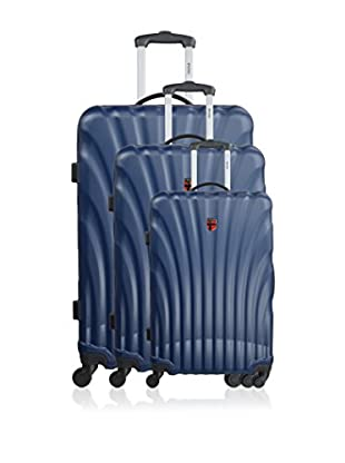 GEOGRAPHICAL NORWAY Set de 3 trolleys rígidos Scary