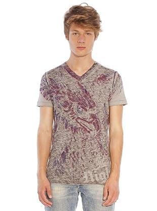 Custo T-Shirt (Beige/Rot)