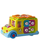 Mee Mee Intelligent School Bus Musical Toy, Multi Color