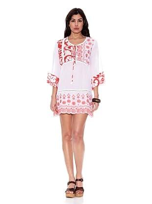 HHG Vestido Francine (Blanco / Rojo)