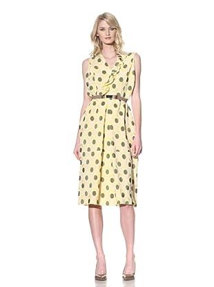MARNI Women's Sleeveless Jacquard Dress with Ruffle (Mais Herb)