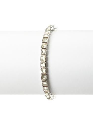 Lulu Frost 1920's Art Deco Square Tennis Bracelet, Silver