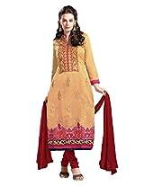 De Marca Beige Beige 8566 Dress Material