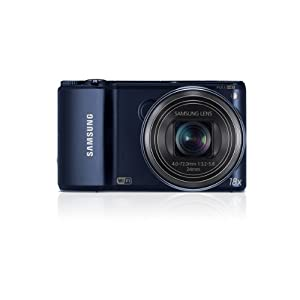 Samsung WB200F 14.2MP Smart WiFi Digital Camera with 18x Optical Zoom and 3.0-inch LCD (Black), 4GB Card, Camera Case with Free Samsung Backpack
