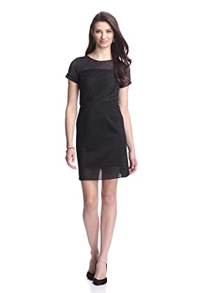 Julia Jordan Women's Techno Stripe Dress (Black)