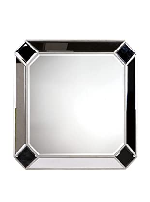 Camille Mirror Accented Wall Mirror, Silver Leaf