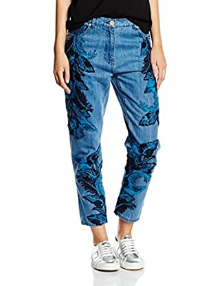 House of Holland Vaquero Denim Lace Overlay Skinny Jeans