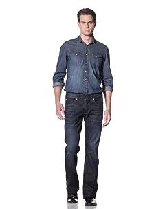 Dylan George Men's Alex Bootcut Jeans (Stockton Blue)