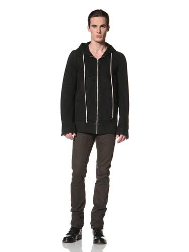 Rick Owens DRKSHDW Men's Hooded Denim Jacket (Triple Black)