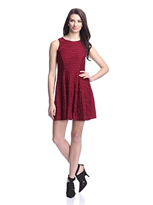 Donna Morgan Women's Sleeveless Fit-and-Flare Dress (Wine)