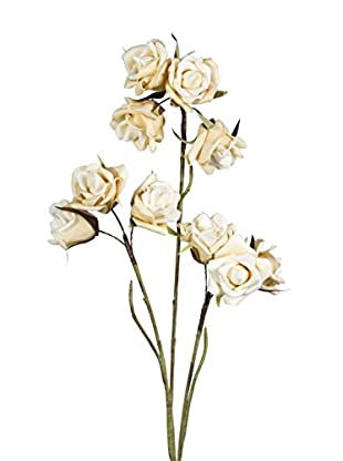Flor Artificial Crema
