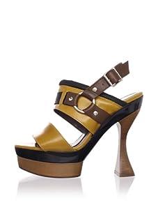 MARNI Women's Slingback Platform Sandal (Dark Lemon)