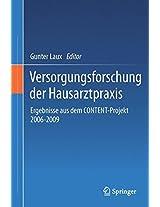 Versorgungsforschung der Hausarztpraxis: Ergebnisse aus dem CONTENT-Projekt 2006-2009