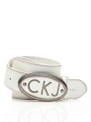 Calvin Klein Jeans Cinturón Cw22Aj (Blanco)